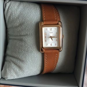 Timex genuine leather watch